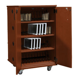 Laminate 48 Unit Charging Cart with Casters, E10027