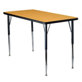 "Adjustable Height Rectangular 24"" x 48"" Activity Table with Armor Edge, A11015"