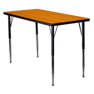 "Adjustable Height Rectangular 30"" x 60"" Activity Table with Armor Edge, A11017"