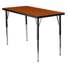 "Adjustable Height Rectangular 36"" x 72"" Activity Table with Armor Edge, A11019"