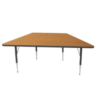 """Adjustable Height Trapezoid 30"""" x 60"""" Activity Table with Armor Edge, A11020"""