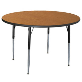 """Round Adjustable Height 48"""" Activity Table with Armor Edge, A11022"""