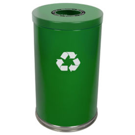 33-Gallon Round Top Recycling Container, F10158
