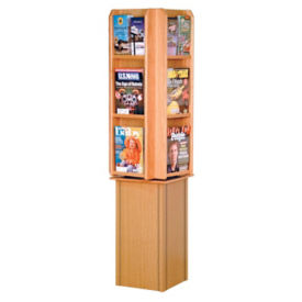 Rotating Literature Rack with 12 Pockets, L40293