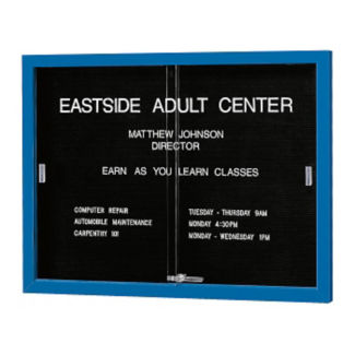 "Directory with Sliding Door and Letter Panel 48"" Wide, B20394"