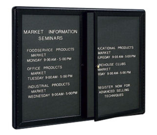 "2-Door Directory Board 60"" Wide x 36"" High, B20453"