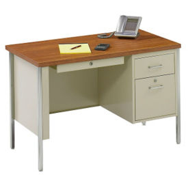 "Lockable Compact Steel Single Pedestal Desk - 45""W, D30210"