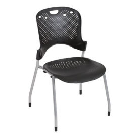 Stack Chair with Perforated Seat and Back, C67767