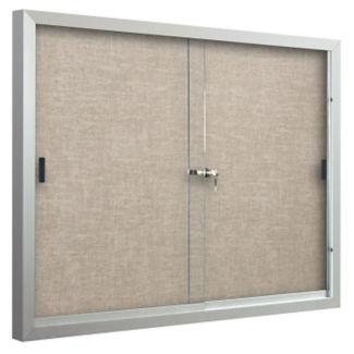 Sliding-Door Bulletin Board 6'W x 4'H, B23139-1