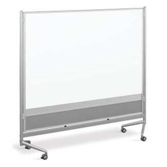 Whiteboard/Cork Board Mobile Partition 6' x 6', B23193