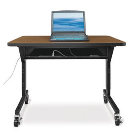 "Mobile Computer Table - 72""W x 30""D, T11242"