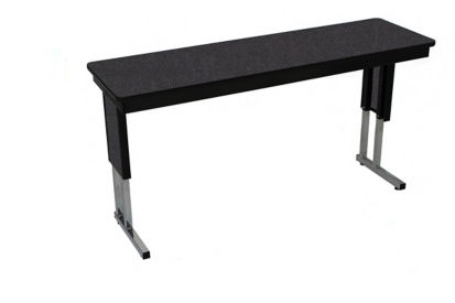 "Adjustable Height Folding Leg Seminar Table - 60"" x 24"", T10983A"