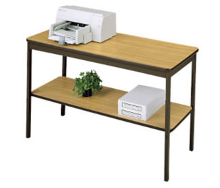 "Utility Table 18"" wide x 30"" long with Shelf, D41325"