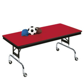 "Mobile Folding Table 60""W x 30""L, D41474"
