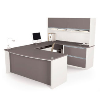 U-Desk with Hutch, D35032
