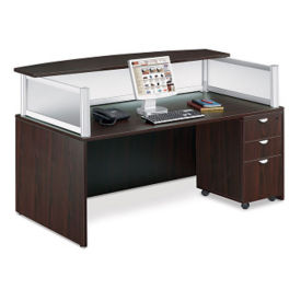 Reception Desk with Mobile Pedestal, D35263