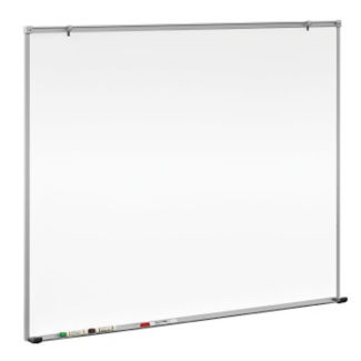 Porcelain White Board with Aluminum Frame 5' W x 4' H, B20833