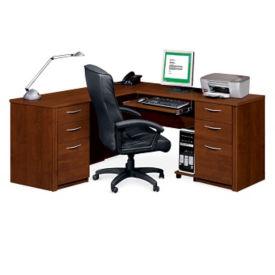 """Reversible Computer L-Desk - 70"""" D x 66"""" W, T60036"""