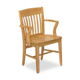 Wood Chair with Arms, W60154