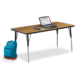 "Set of Four Rectangular Child Size Adjustable Height Tables - 60"" x 30"", T10507"