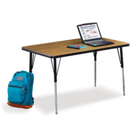 "Rectangular Adult Size Adjustable Height Table - 48"" x 24"", A11147"