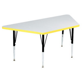 "Adjustable Height Trapezoid Table 24"" wide x 48"" long, D45153"