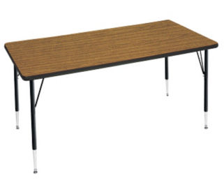 "Adjustable Height Rectangular Table 24"" x 48"", A10953"