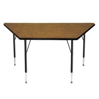 """Adjustable Height Trapezoidal Table 24"""" x 24"""" x 48"""", A10965"""