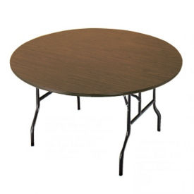 "Melamine Round Folding Table 48"" Diameter, T10046"