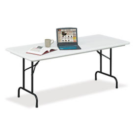 "60""W x 30""D Adjustable-Height Folding Table, A11116"