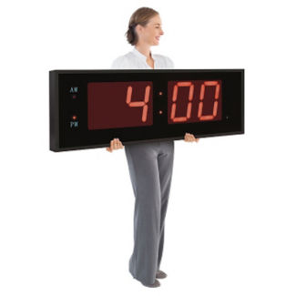 """Digital LED Clock with 8"""" Red Numerals, V21723"""
