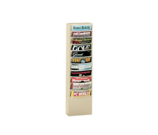 Steel Wall Literature Rack 10 Extra Large Pockets, D33007