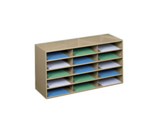 Steel Literature Rack with 15 Openings, D33048