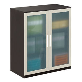 At Work Storage Cabinet with Glass Doors, B30654