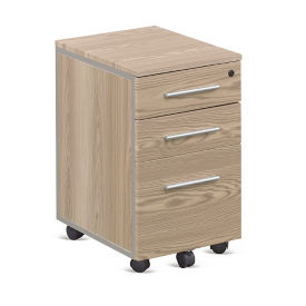 "At Work Mobile File Pedestal in Warm Ash - 26""H, L40839"