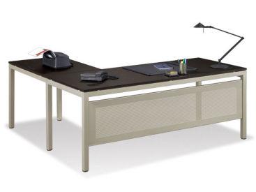 """At Work 72""""W x 72""""D Reversible L-Desk, D30345"""