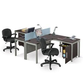 At Work Compact L Desk Workstation Set, D35191