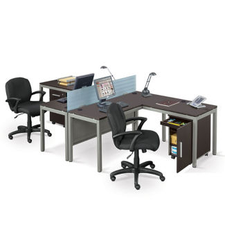 At Work Two Person Complete Compact Office, D30348