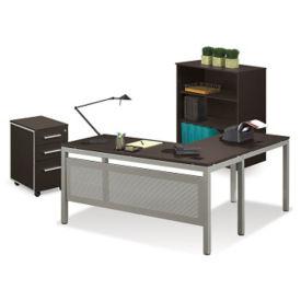 L-Desk and Bookcase, D35235