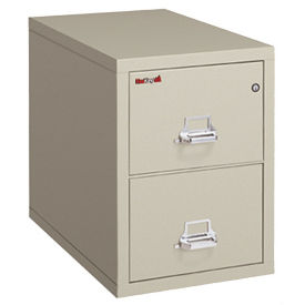 "Legal Size Fire Proof File with 2 Drawers 31"" deep, D34036"