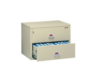 "Lateral Fire Proof File with 2 Drawers 44"" wide, D34034"