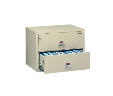 """Lateral Fire Proof File with 2 Drawers 44"""" wide, D34034"""
