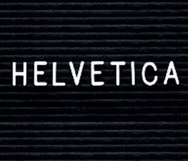 "Helvetica Style Letterset 2"" Size, D80394"