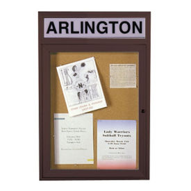 "Bulletin Board with Header 30""x36"", B20488"