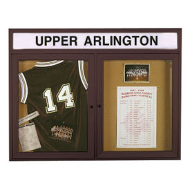 "60"" x 36"" Bulletin Board with Illuminating Header, B20506"