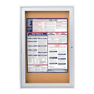 "Indoor Satin Alum Bulletin Board 18""x24"", B20519"