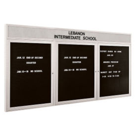 "Indoor Directory Board with Header 72"" x 48"", B20585"