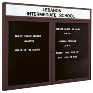 "Indoor Bronze Directory Board with Header 48""x36"", B20590"