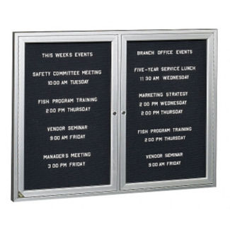 "Bronze Tone Indoor Directory Board 60""x48"", B20633"