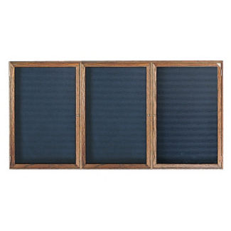 "Oak Frame Indoor Directory Board 72""x48"", B20645"